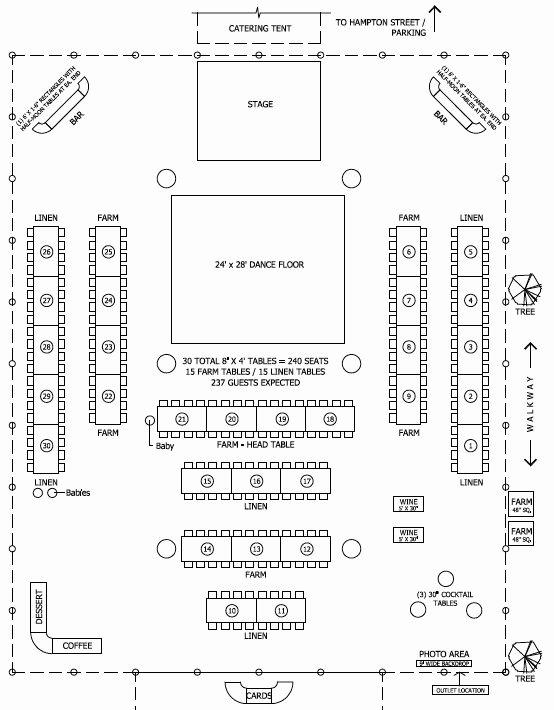 Free Wedding Floor Plan Template Inspirational Floor Plan for Tent Barn Wedding Reception