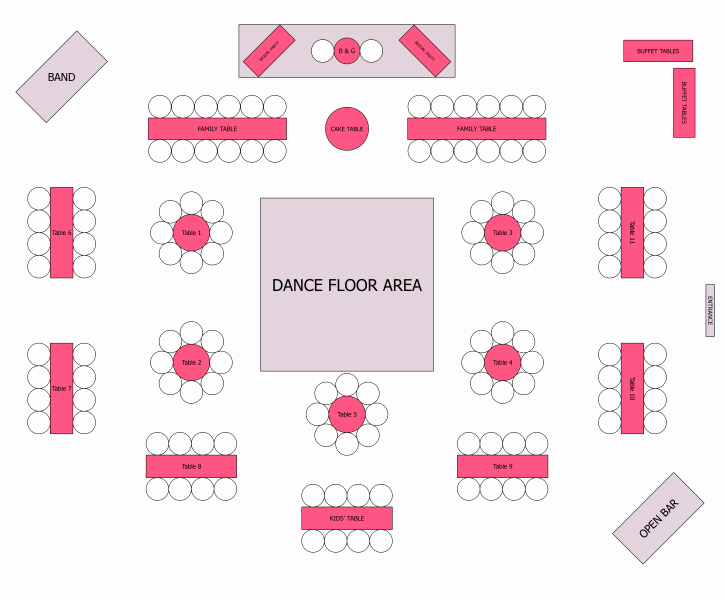 Free Wedding Floor Plan Template Inspirational Reception Seating Kinda but with All Round Tables for the