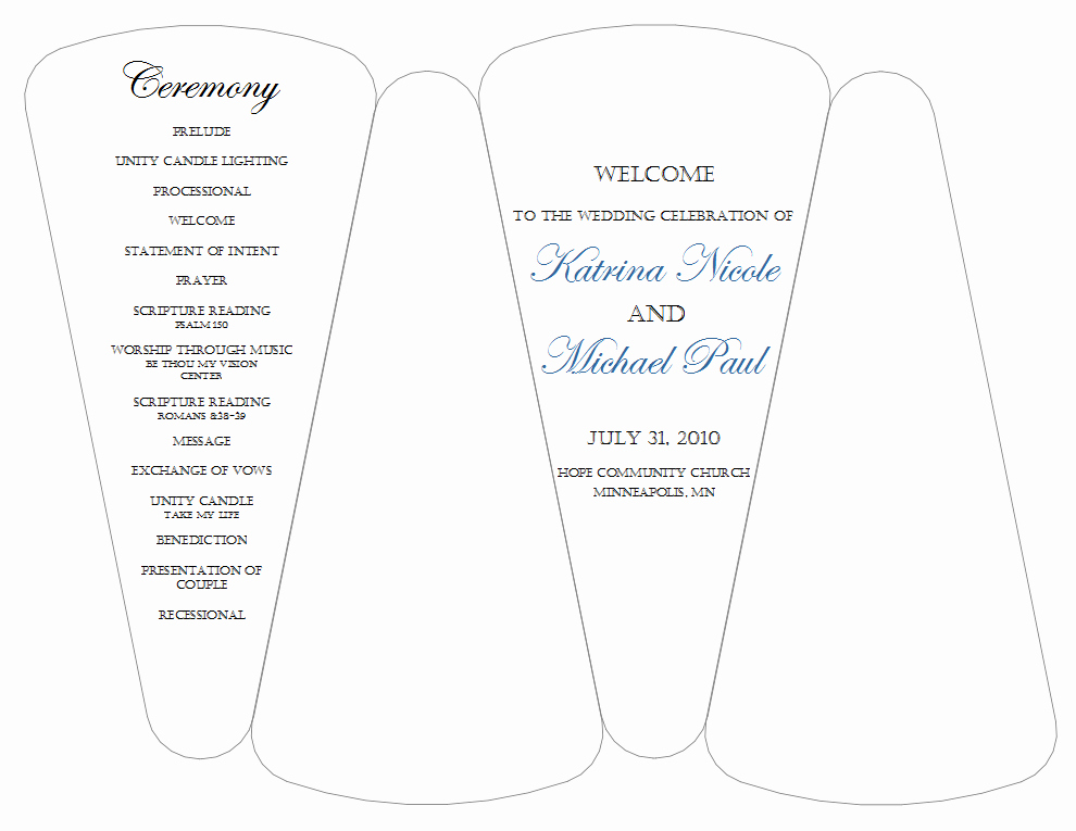 Free Wedding Program Fan Templates Awesome Fan Wedding Program Free Template Mastersport