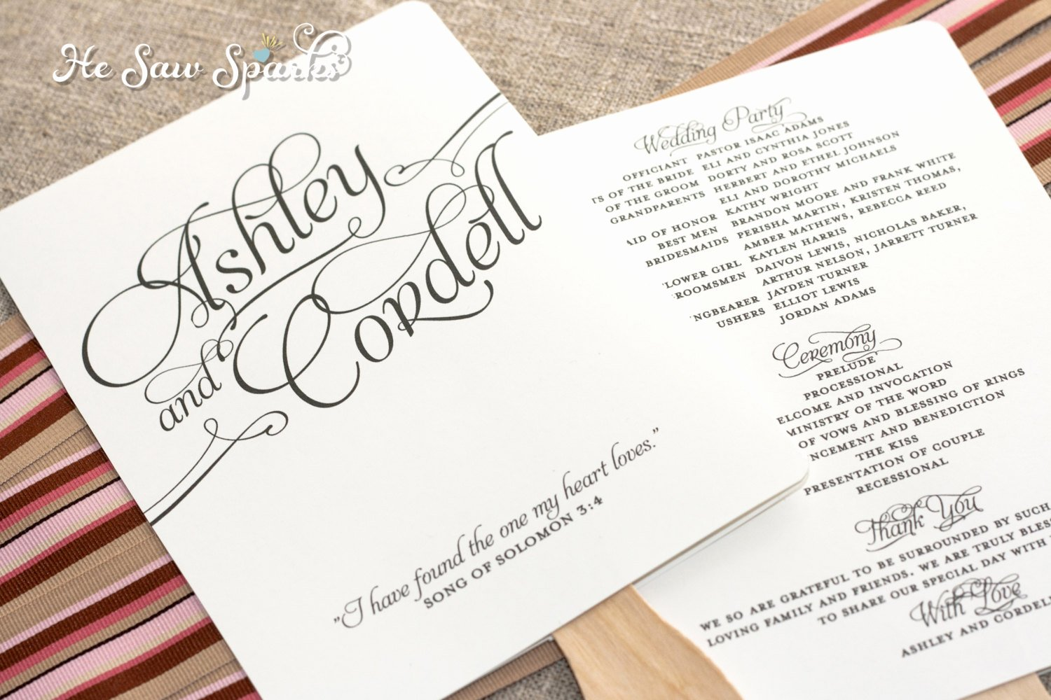 Free Wedding Program Fan Templates Elegant Matching Paddle Fan Program Diy Printable