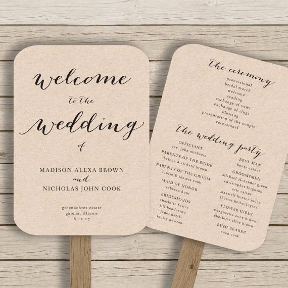 Free Wedding Program Fan Templates Fresh 25 Best Ideas About Fan Wedding Programs On Pinterest