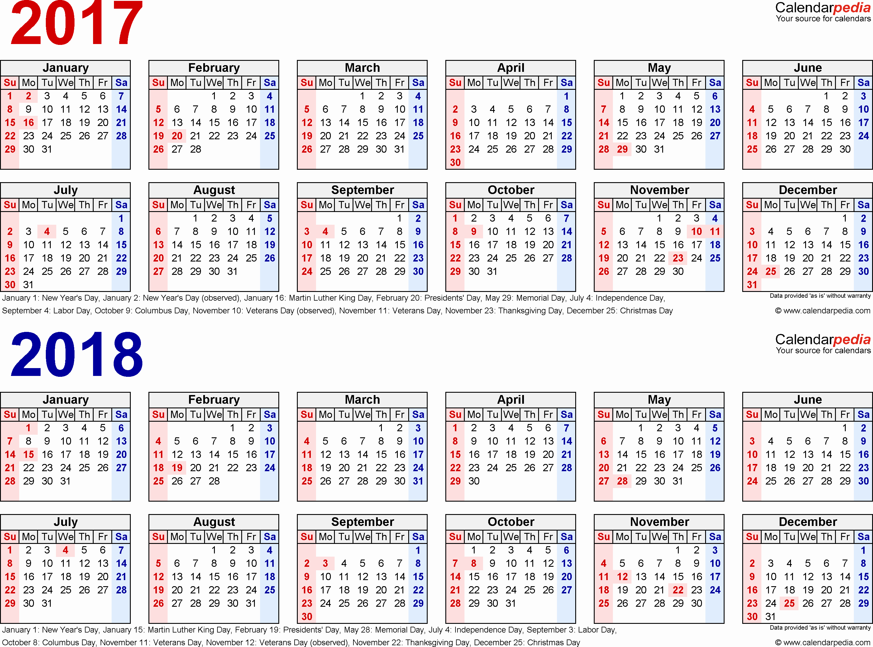 Free Yearly Calendar 2017 Elegant 2017 2018 Calendar Free Printable Two Year Excel Calendars