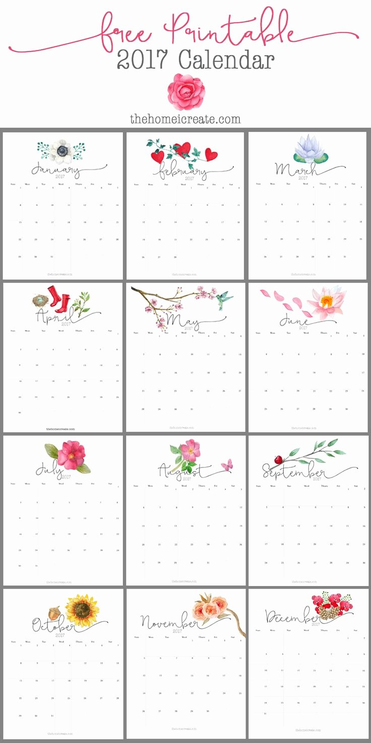 Free Yearly Calendar 2017 Fresh 25 Best Ideas About 2017 Calendar Printable On Pinterest