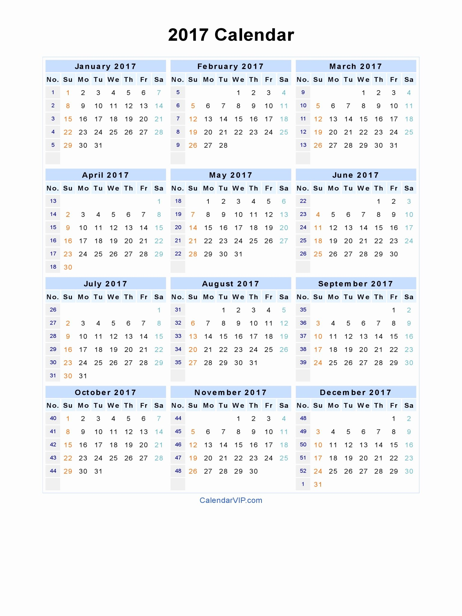 Free Yearly Calendar 2017 Inspirational 7 Best Of Free Printable Blank Calendar Template
