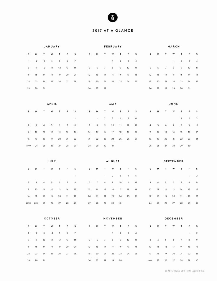 Free Yearly Calendar 2017 Luxury 25 Best Ideas About Printable Yearly Calendar On