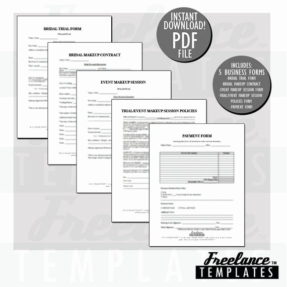 Freelance Makeup Artist Contract Templates Beautiful Freelance Makeup Artist Contracts Essential by