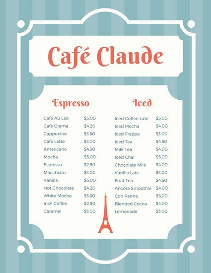 French Menu Design Fresh Customize 265 French Menu Templates Online Canva