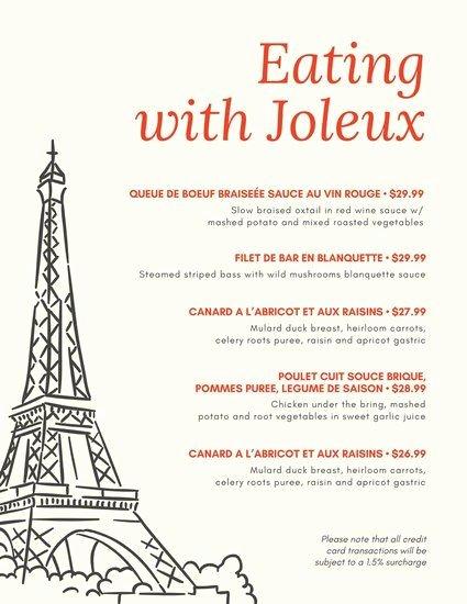 French Menu Design Unique 25 Best Ideas About French Restaurant Menu On Pinterest