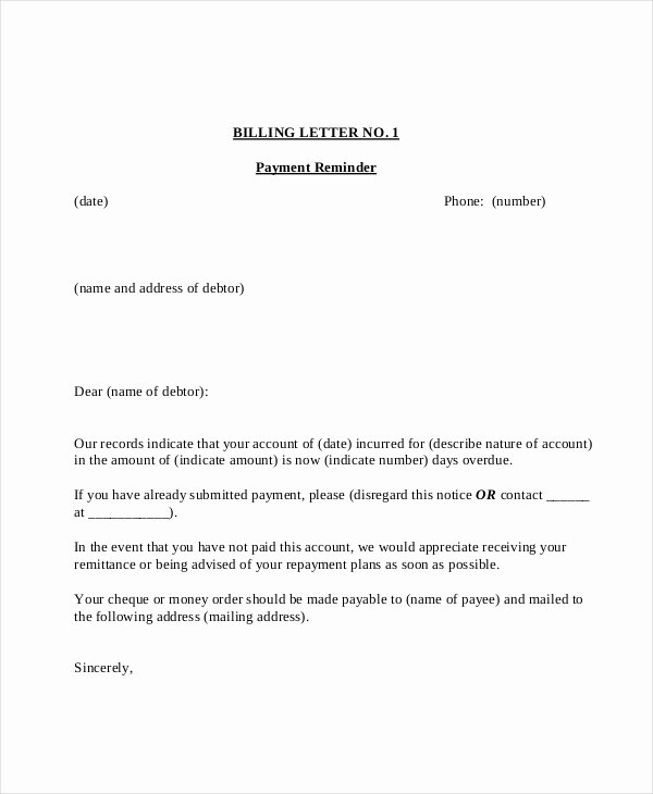 Friendly Payment Reminder Letter Samples New 15 Payment Reminder Letter Templates Pdf Google Docs