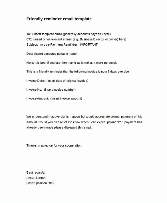 Friendly Payment Reminder Letter Samples New Friendly Payment Reminder Letter Invoice Reminder