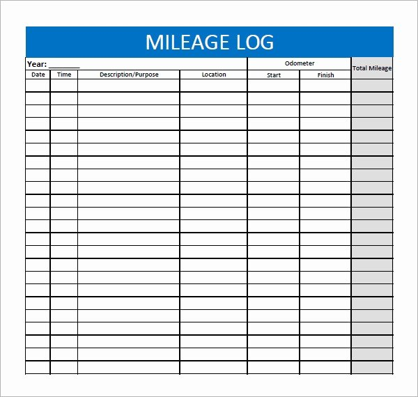 Fuel Log Book Template Excel Best Of Mileage Log Template 13 Download Free Documents In Pdf Doc