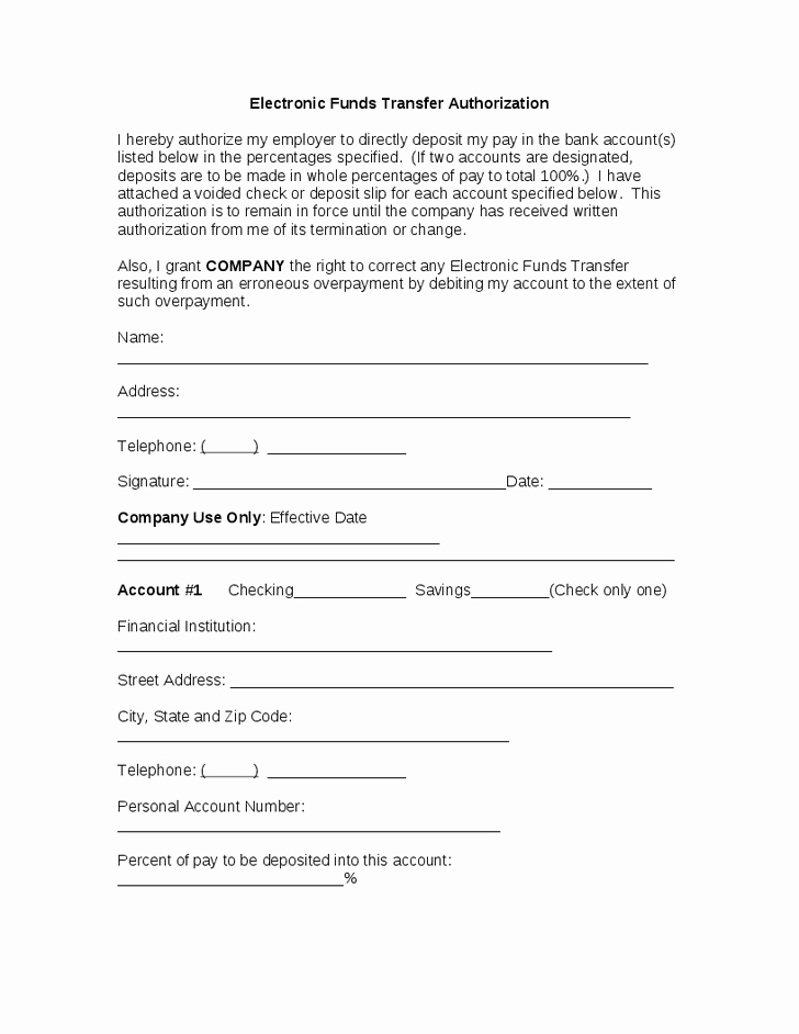 Fund Request form Template Awesome 22 Of Eft Transfer form Template