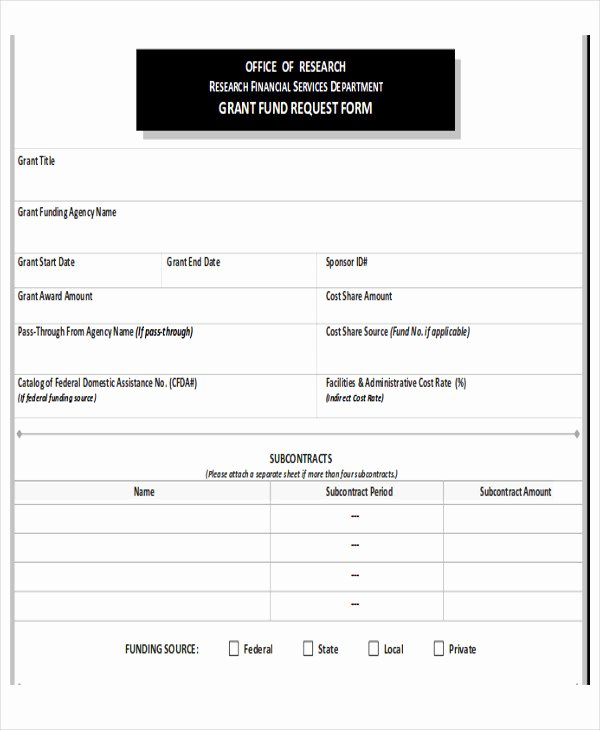 Fund Request form Template Awesome Sample Funding Request form 10 Examples In Word Pdf