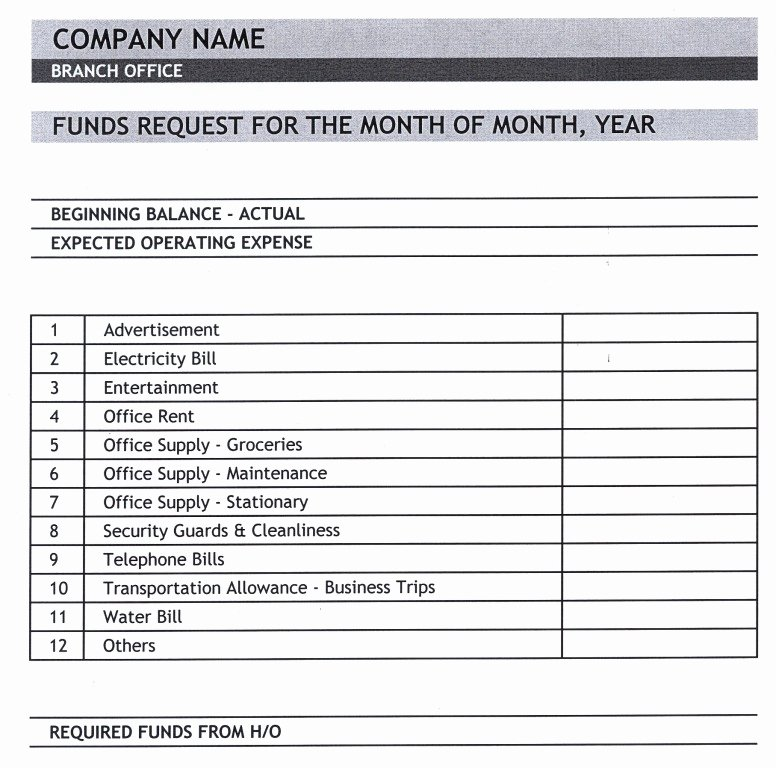 Fund Request form Template Elegant General Knowledge Library Expense Report Template