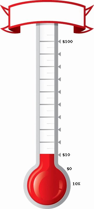 Fundraising Goal Chart Template Elegant Printable thermometer