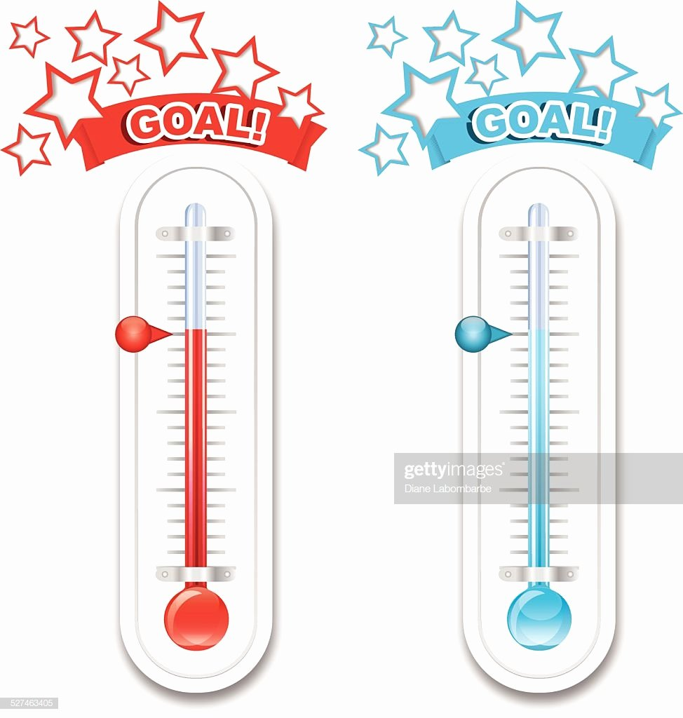 Fundraising Goal Chart Template Fresh Fundraiser Goal thermometers Vector Art