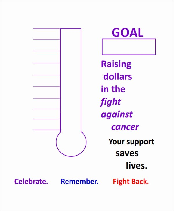 Fundraising Goal Chart Template Unique 10 Sample thermometer Templates