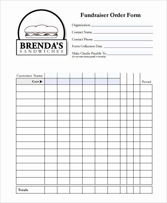 Fundraising order form Template Beautiful 29 order form Templates Pdf Doc Excel