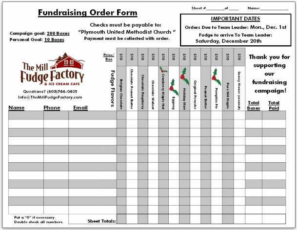Fundraising order form Template Best Of Fundraiser order Templates Word Excel Samples