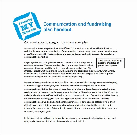 Fundraising Plan Template Free Luxury 17 Fundraising Plan Templates Free Sample Example