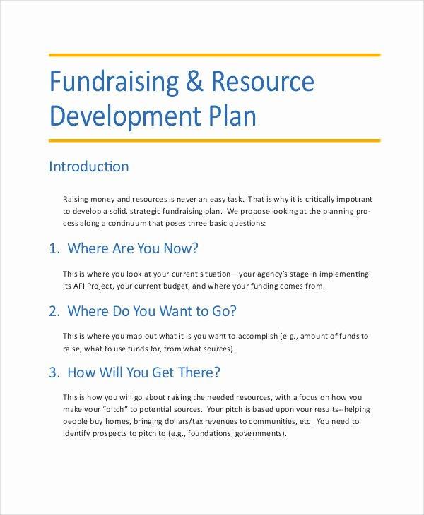 Fundraising Plan Template Free Unique 10 Development Plan Samples & Templates Pdf Docs