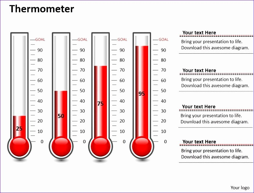 Fundraising thermometer Excel Awesome 7 thermometer Template Excel Exceltemplates Exceltemplates