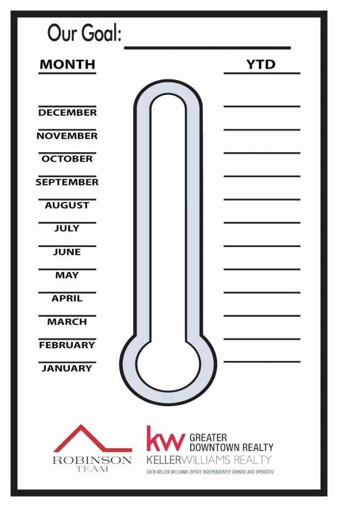 Fundraising thermometer Excel Awesome Goal thermometer Template Professional Chart Excel