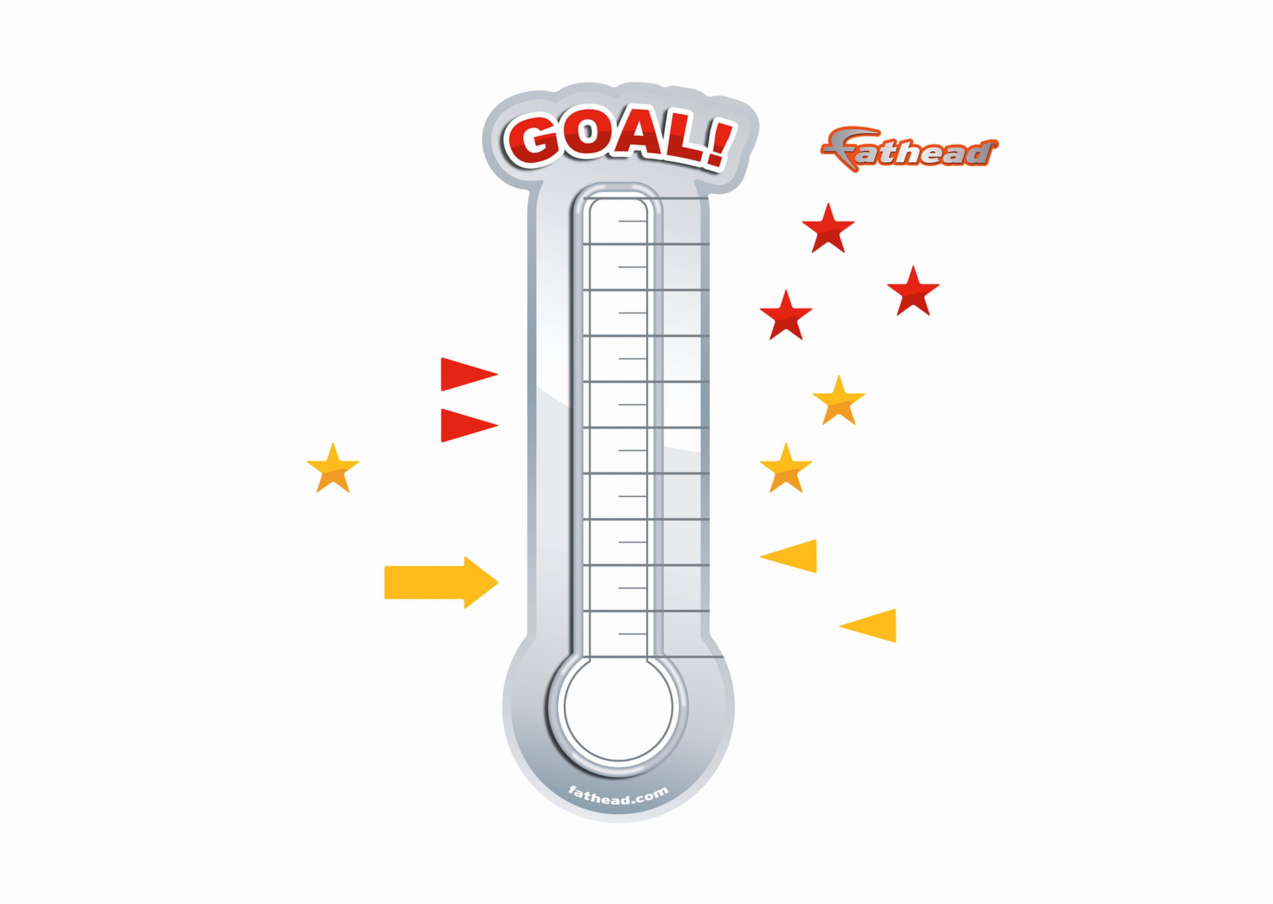 Fundraising thermometer Image Awesome Dry Erase Goal thermometer X Removable Wall