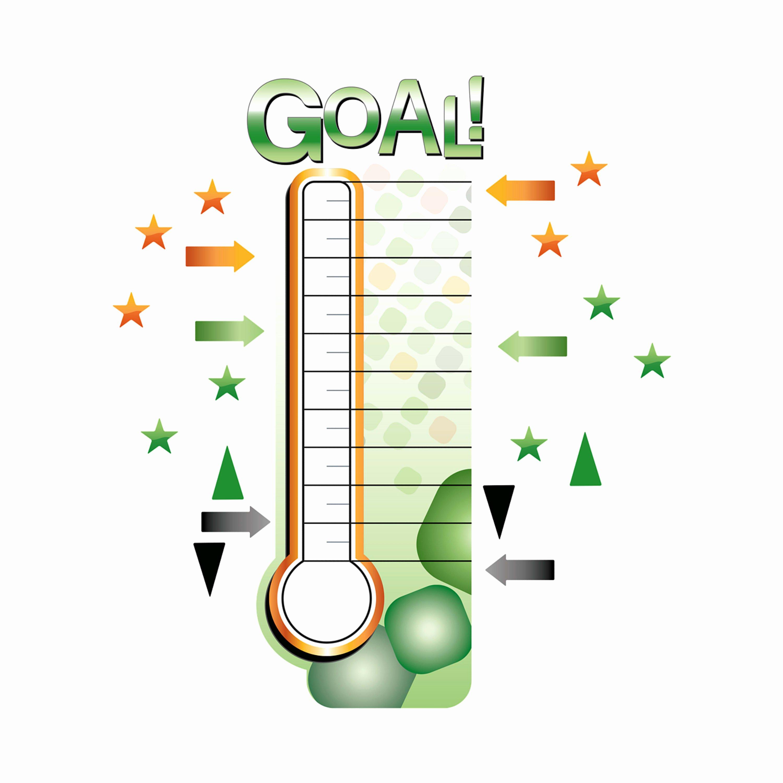 Fundraising thermometer Image Luxury Dry Erase Fundraising thermometer X Removable