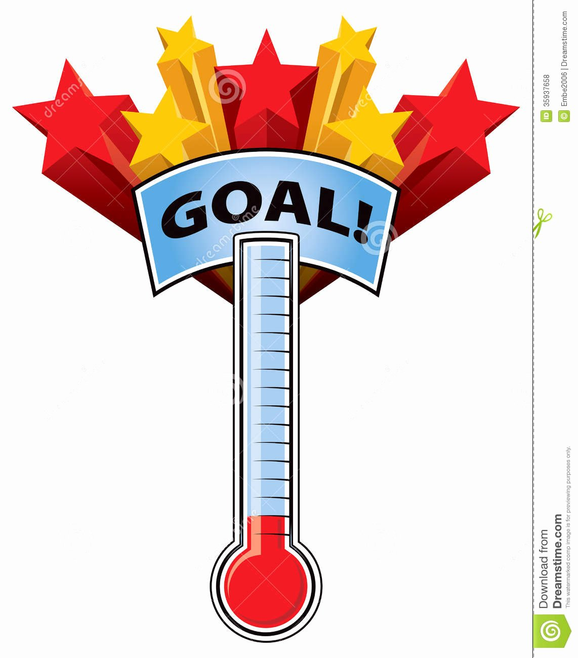 Fundraising thermometer Template Editable Elegant Fundraising thermometer Clip Art
