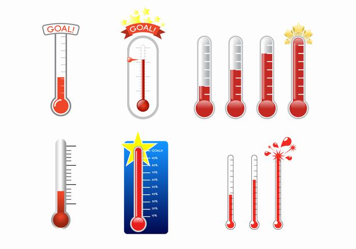 Fundraising thermometer Template Editable Inspirational Vector De Termômetro De Golos Grátis Download Vetores E