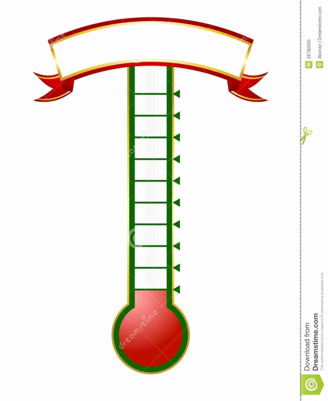 Fundraising thermometer Template Excel Awesome Goal thermometer Template