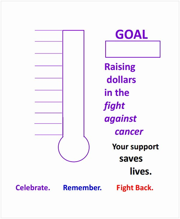Fundraising thermometer Template Excel Awesome thermometer Template