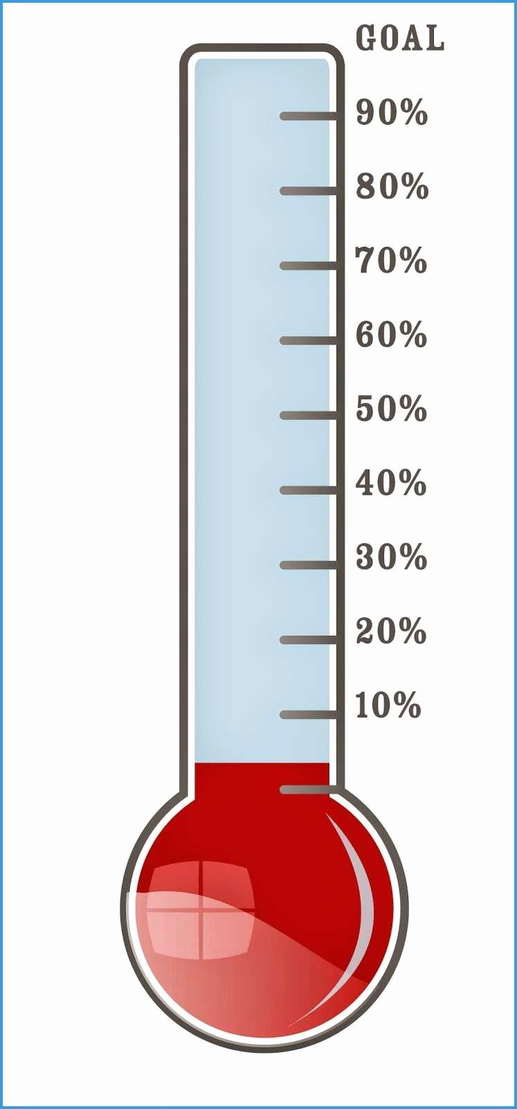 Fundraising thermometer Template Excel Beautiful Sales Goal thermometer Excel Template with Powerpoint Plus