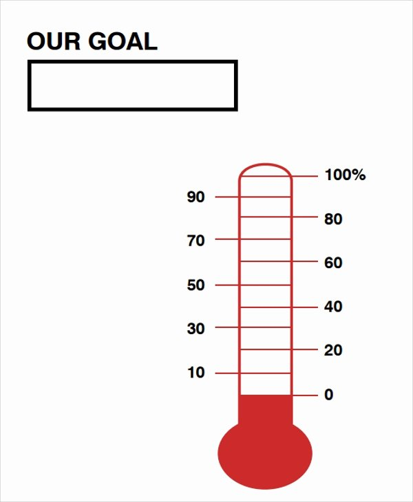 Fundraising thermometer Template Excel Fresh Sales thermometer Template Invitation Template