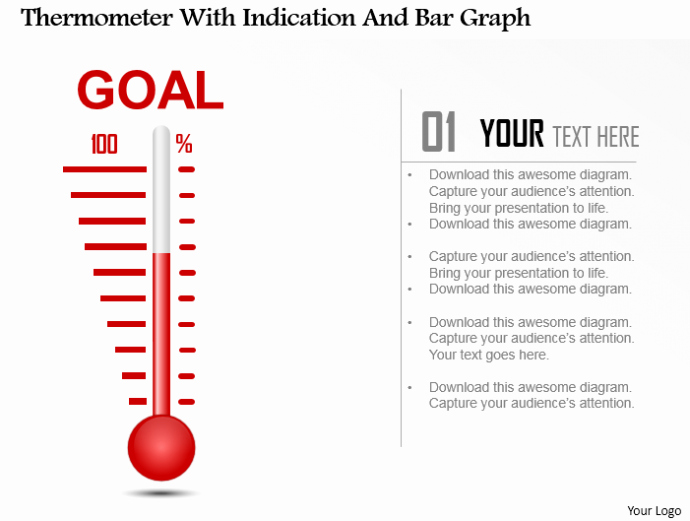 Fundraising thermometer Template Powerpoint Fresh Powerpoint Tutorial 9 How to Create A thermometer