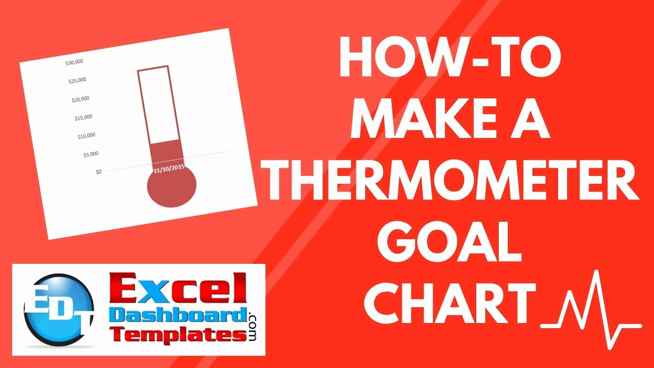 Fundraising thermometer Template Powerpoint New How to Make A thermometer Goal Chart In Excel