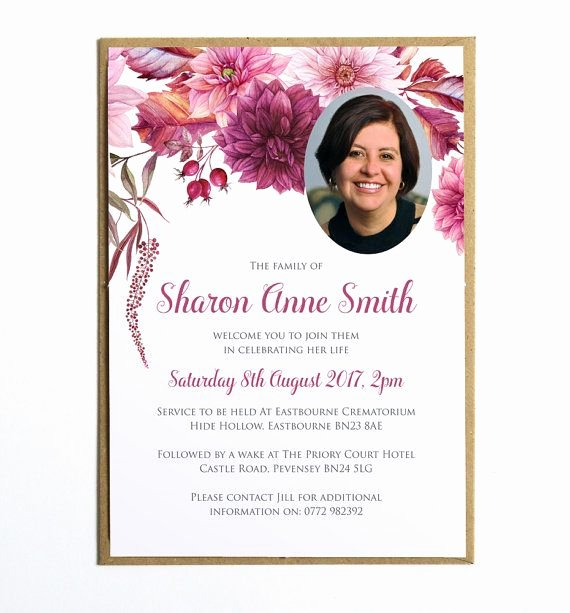 Funeral Memorial Card Template Awesome the 25 Best Funeral Invitation Ideas On Pinterest