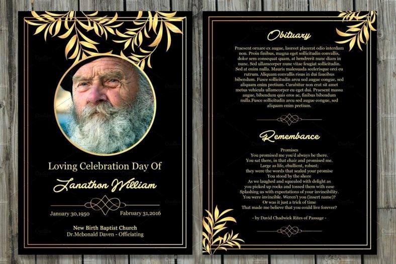 Funeral Memorial Card Template Beautiful 11 Funeral Memorial Card Designs & Templates Psd Ai
