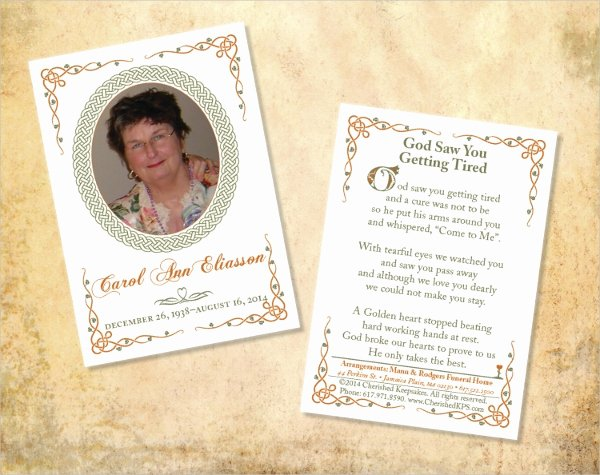 Funeral Memorial Card Template Beautiful 15 Funeral Card Templates Free Psd Ai Eps format
