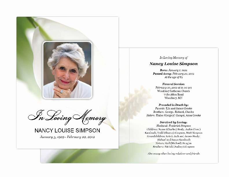 Funeral Memorial Card Template Beautiful Funeral Card Design Negocioblog