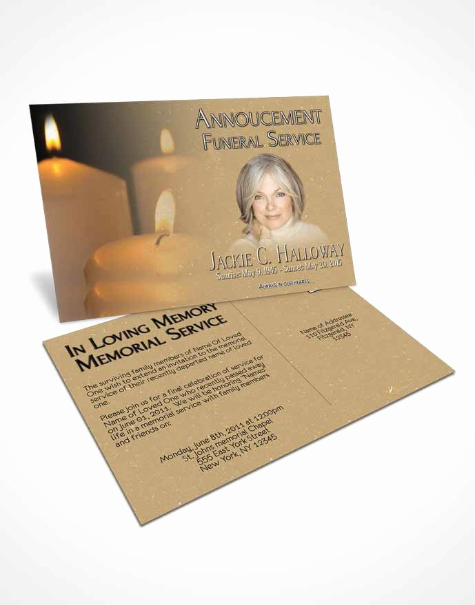 Funeral Memorial Card Template Elegant Bifold order Of Service Obituary Template Brochure Golden