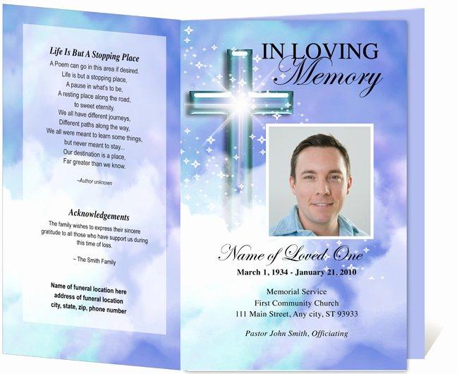Funeral Memorial Card Template Elegant Free Funeral Program Template