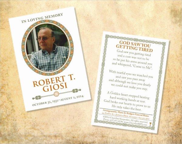 Funeral Memorial Card Template Inspirational 8 Prayer Card Templates Psd Ai Eps