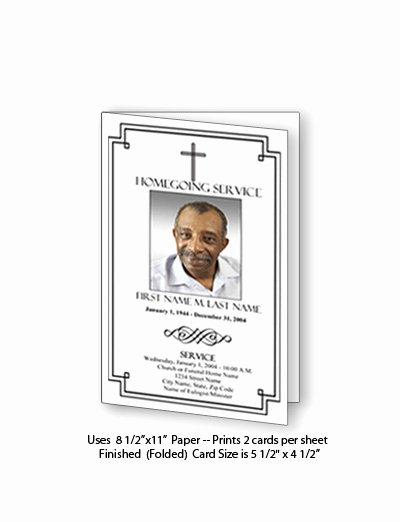 Funeral Memorial Card Template Inspirational Funeral Program Templates