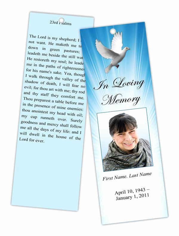 Funeral Memorial Card Template Lovely Funeral Programs and Memorial Cards Bookmarks