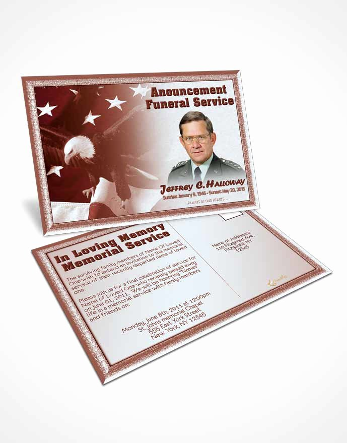 Funeral Memorial Card Template Unique Bifold order Of Service Obituary Template Brochure 2nd
