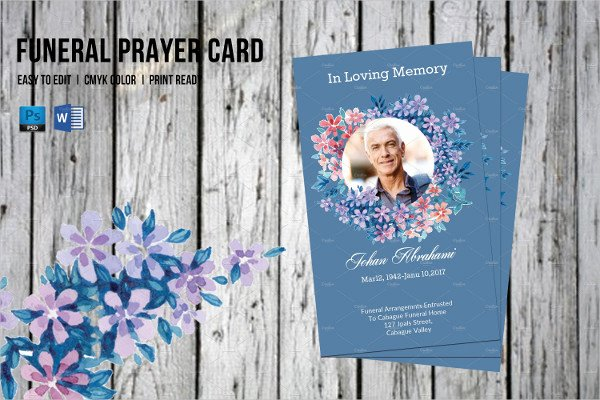 Funeral Prayer Cards Templates Beautiful Funeral Prayer Card Template 21 Psd Ai Eps format