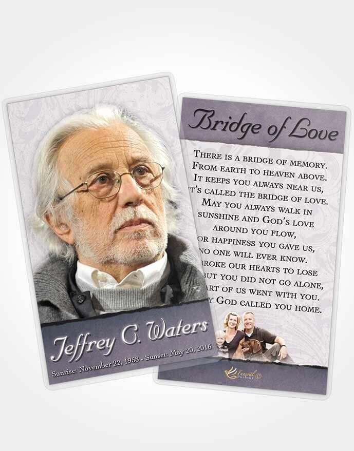Funeral Prayer Cards Templates Beautiful Prayer Card Template Peaceful Destiny