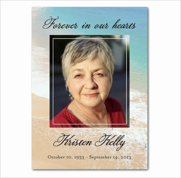 Funeral Prayer Cards Templates Inspirational 16 Obituary Card Templates Free Printable Word Excel